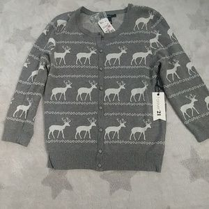 Ugly Sweater with Reindeer in Grey